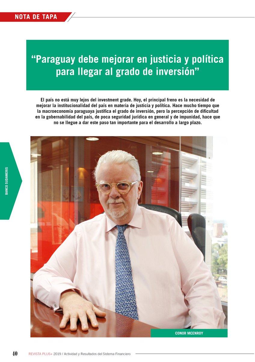 """#LoMásLeído  📸 Conor McEnroy: """"Paraguay debe mejorar en justicia y política para llegar al grado de inversión"""" https://www.revistaplus.com.py/2019/05/25/conor-mcenroy-paraguay-debe-mejorar-en-justicia-y-politica-para-llegar-al-grado-de-inversion/…  #EdiciónImpresa #Paraguay #RevistaPLUSpy"""