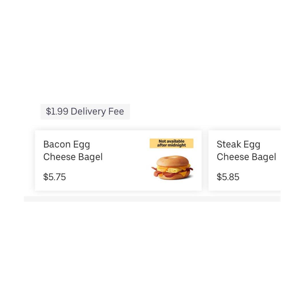 mcdonalds in dc has breakfast bagel sandwiches...