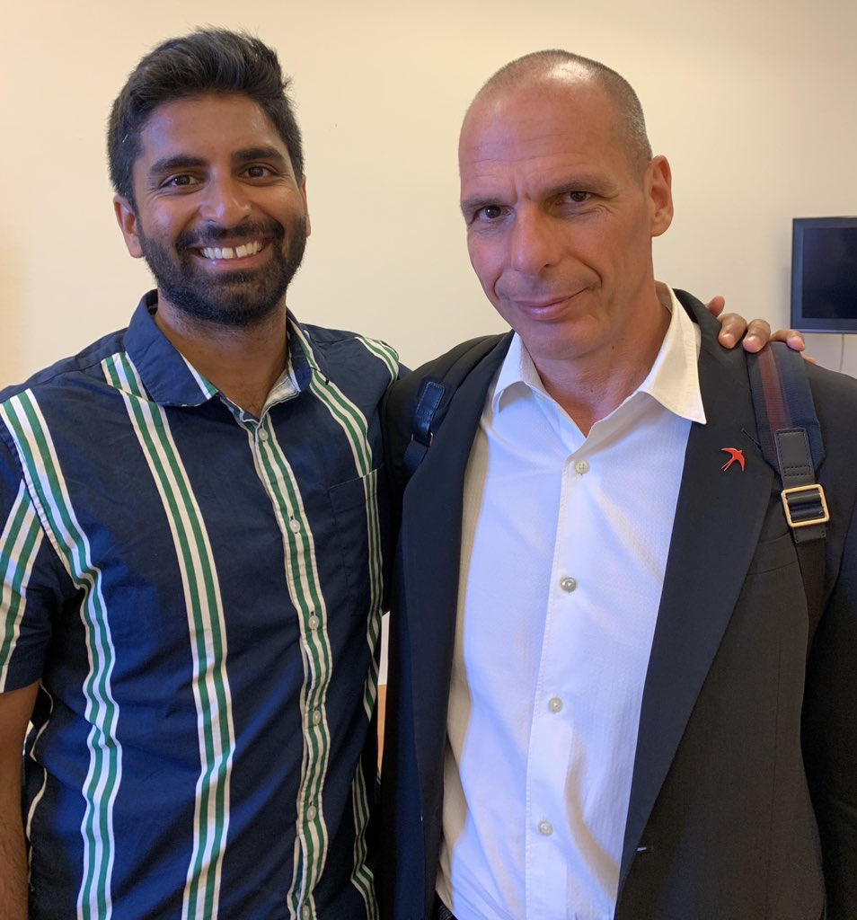 Glad to discuss the Green New Deal with @yanisvaroufakis today!<br>http://pic.twitter.com/Ivr6TL0UbZ