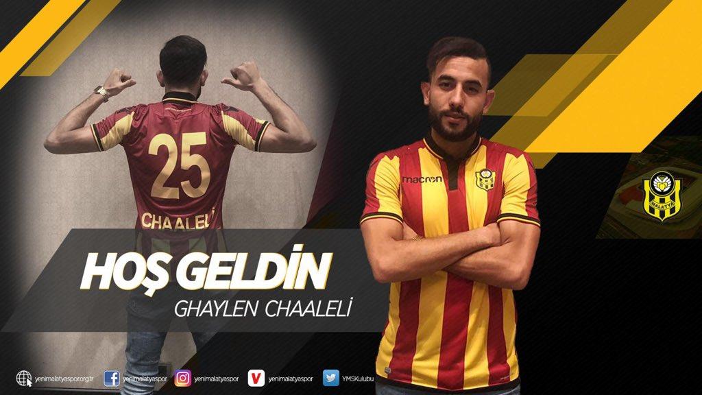 Yeni Malatyaspor, Ghaylen Chaaleli ile 3 yıllık sözleşme imzaladığını açıkladı.
