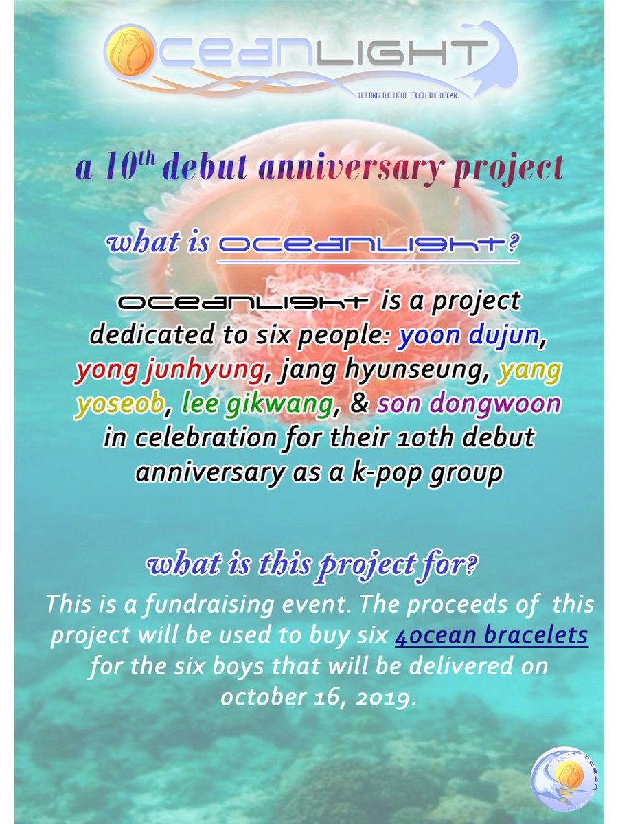 OceanLight launches an environmental project! Details can be found below. 😊💚💙 #SaveOurOceans #oceanlight #10thanniversaryproject #beast #highlight #kpopfanproject  Google Form: https://forms.gle/a14H3i4WzDwRh4FV9 …
