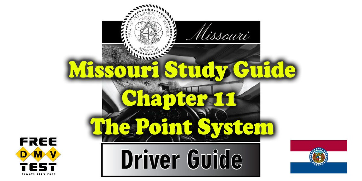 These 12 study questions from chapter 11 in the Driver Guide help you cover the basics of Missouri Point System: https://buff.ly/2OdKaUM  #driverlicense #missouri #dmvtest #driverguide #pointsystem #drivingrecord #studyhelp