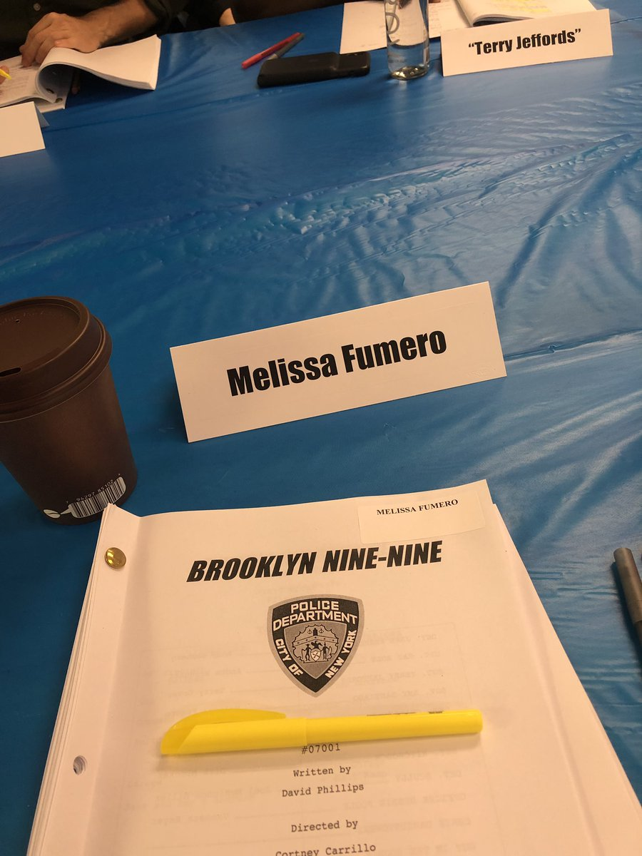 Happy Monday Nine Niners! #FirstTableRead #Brooklyn99 #Season7 🚨🙌🏽🚨🙌🏽🚨🙌🏽🚨