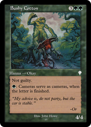I think Kavu Chameleon is trying to turn into a walkthrough for a level of Phoenix Wright.  #MtG #GoogleTranslatesMtG #KavuChameleon  Art by: John Howe, (not the LotR one, the other one, but google only wants to talk about the LotR one.)<br>http://pic.twitter.com/UWdcAHUsKS