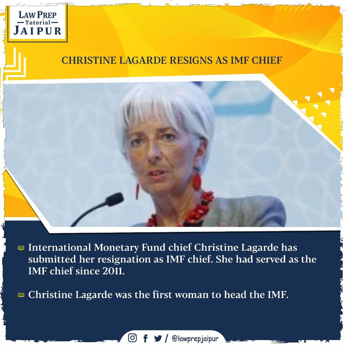 Stay connected for more such Current Affairs.  #Gk #CLATGK #CLAT2020 #CLATQuestions #currentaffairs #LegalGk #InternationalMonetaryFund #IMF #ChristineLagarde
