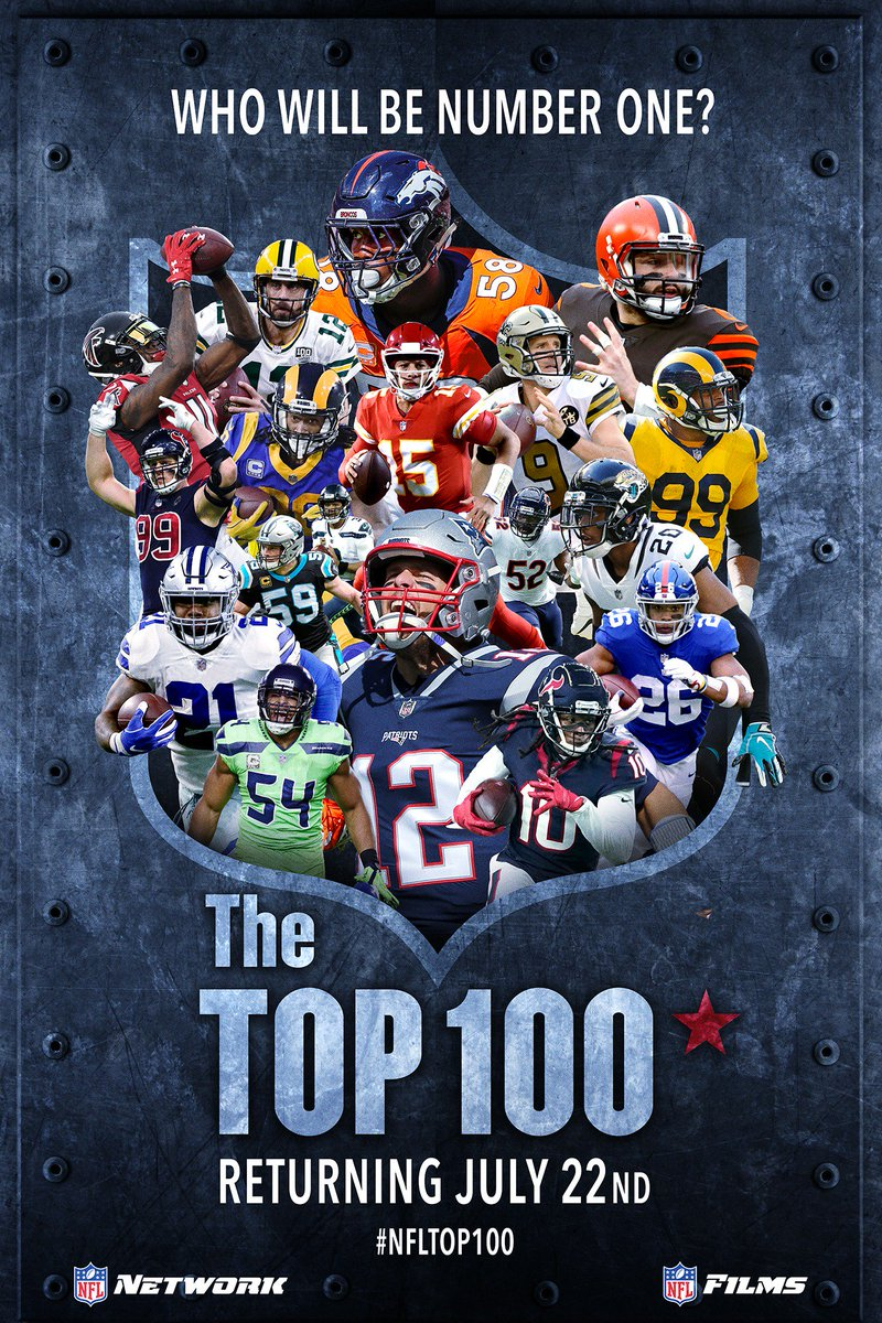 #NFLTop100 is BACK! Tune in tonight at 9pm ET on @nflnetwork!  RT for a chance to win this poster!  <br>http://pic.twitter.com/SAqAANo9nM
