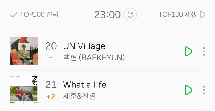 'UN Village' & 'What a life' meets on the chart!  @weareoneEXO<br>http://pic.twitter.com/bRC8XSfz2o