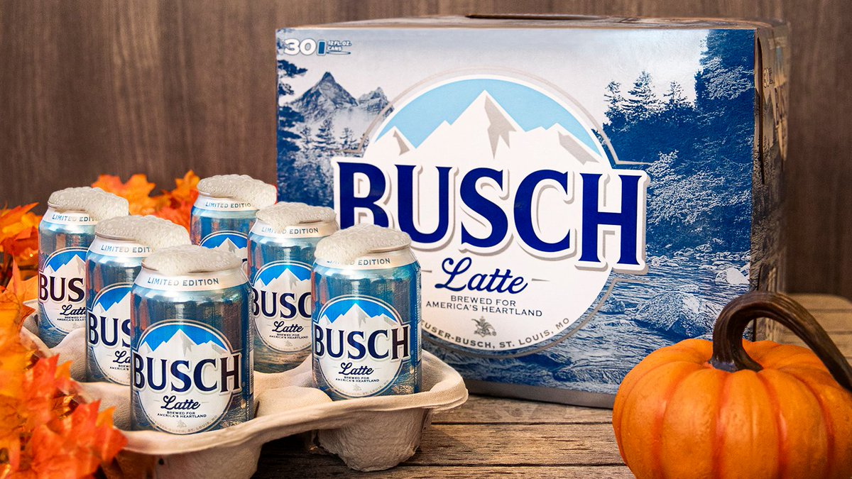 Replying to @BuschBeer: You asked for it, and it's finally here. #BuschLatte