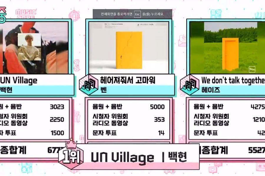 "Watch: Baekhyun Takes 2nd Win For ""UN Village"" On MBC's ""Music Core""; Performances By DAY6, PENTAGON, Chungha, And More #BAEKHYUN #BAEKHYUN_CITYLIGHTS #EXO #CityLightsForBaekhyun  watch now:https://www.soompi.com/article/1340032wpp/watch-baekhyun-takes-2nd-win-for-un-village-on-mbcs-music-core-performances-by-day6-pentagon-chungha-and-more…"