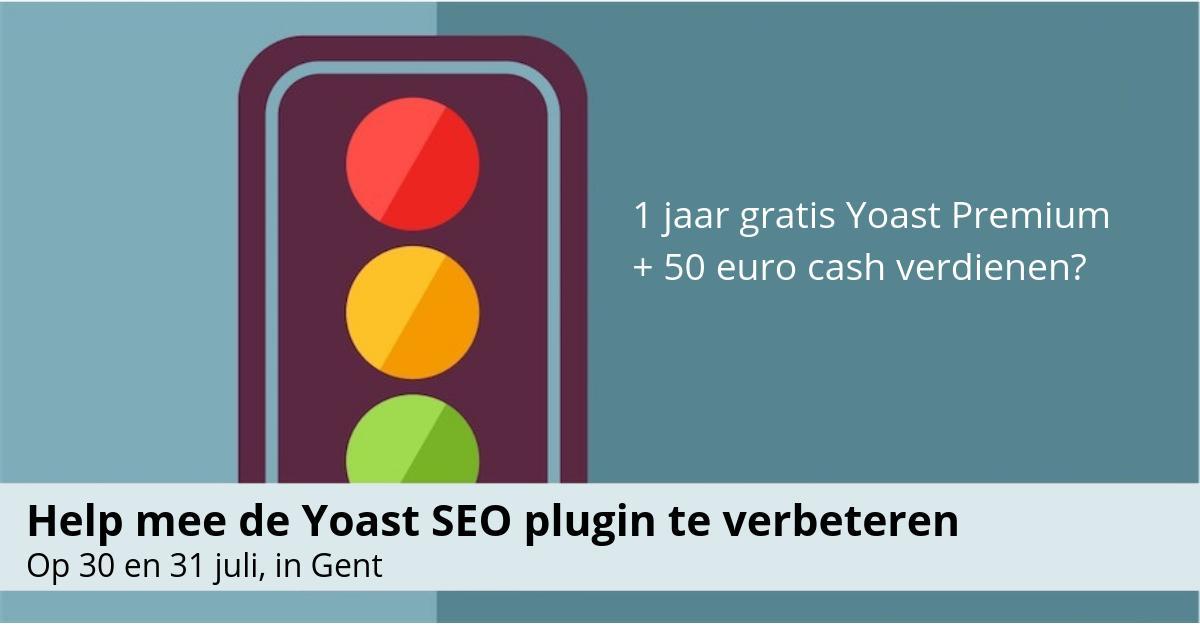 test Twitter Media - Gebruik jij de Yoast-plugin? Neem deel aan onderzoek in Gent en krijg 1 jaar gratis Yoast SEO Premium én €50 cash: https://t.co/3kAZk2HrtW https://t.co/9qGPuUwlaR