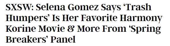 Happy Birthday to Selena Gomez, the world s biggest Trash Humpers fan