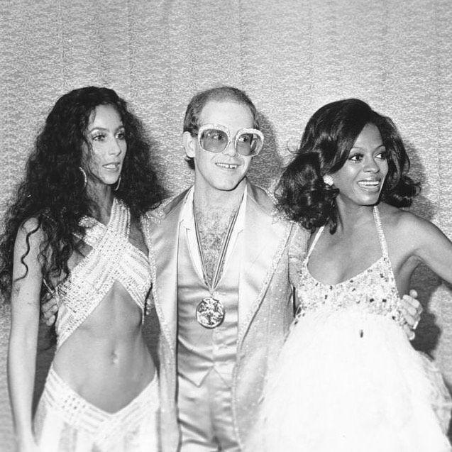 Cher, Elton John, and Diana Ross, 1975. <br>http://pic.twitter.com/SQIGgCsOvn