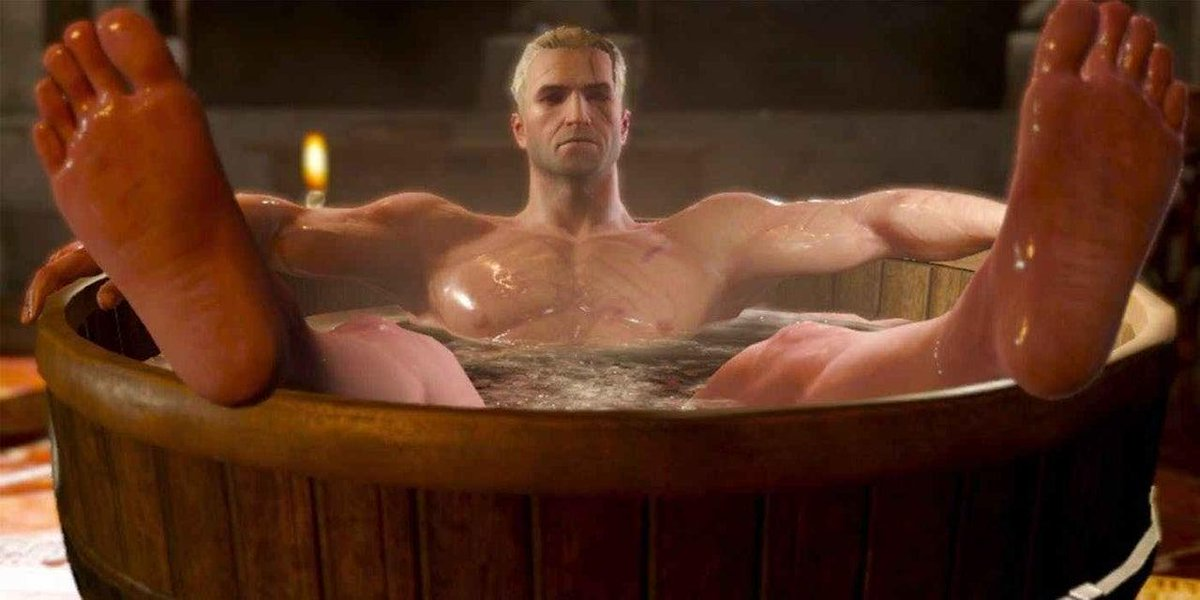 Netflixs The Witcher series isnt adapting the games, but theyre definitely still going to have a bathtub scene. bit.ly/2y0gWhd