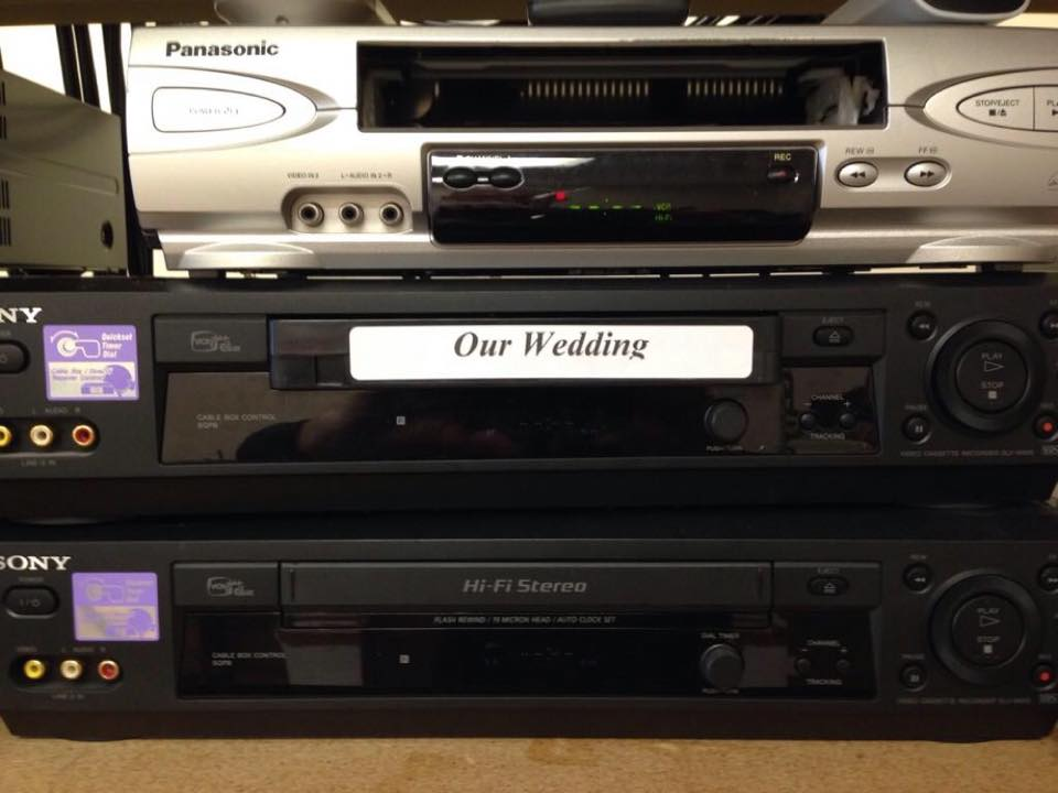 Do you have your wedding video on VHS just sitting there, fading away? Don't lose your precious memories...let Duplication Media preserve them!  #wedding #VHS #preserve