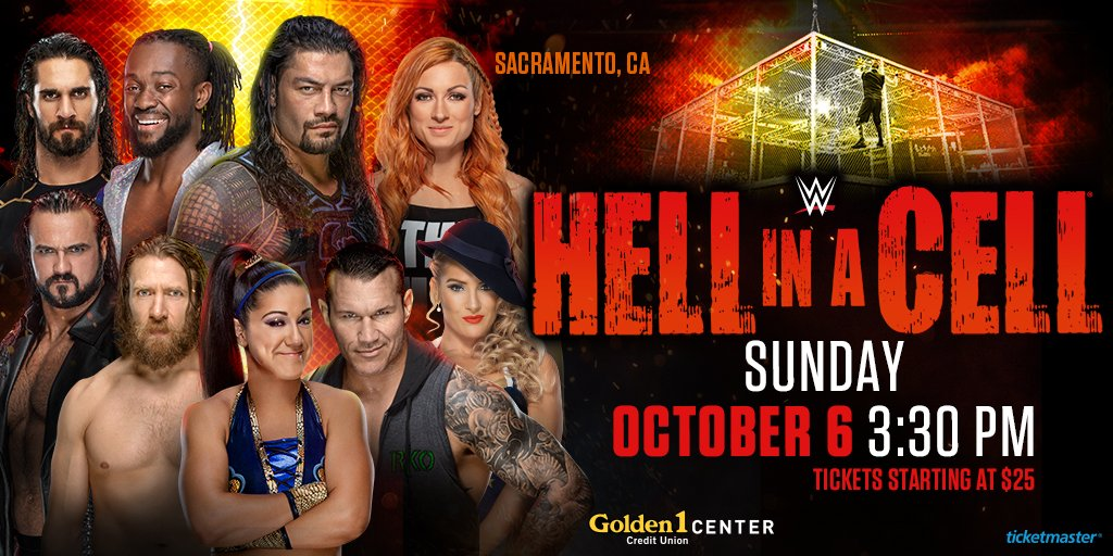 For the first time ever, @WWE Hell In A Cell comes to Golden 1 Center! 🔥  See the Champion @TrueKofi vs. 'The Viper' @RandyOrton + @WWERollins vs. @DMcIntyreWWE, + more!   Tickets on sale Friday, July 26 🎟