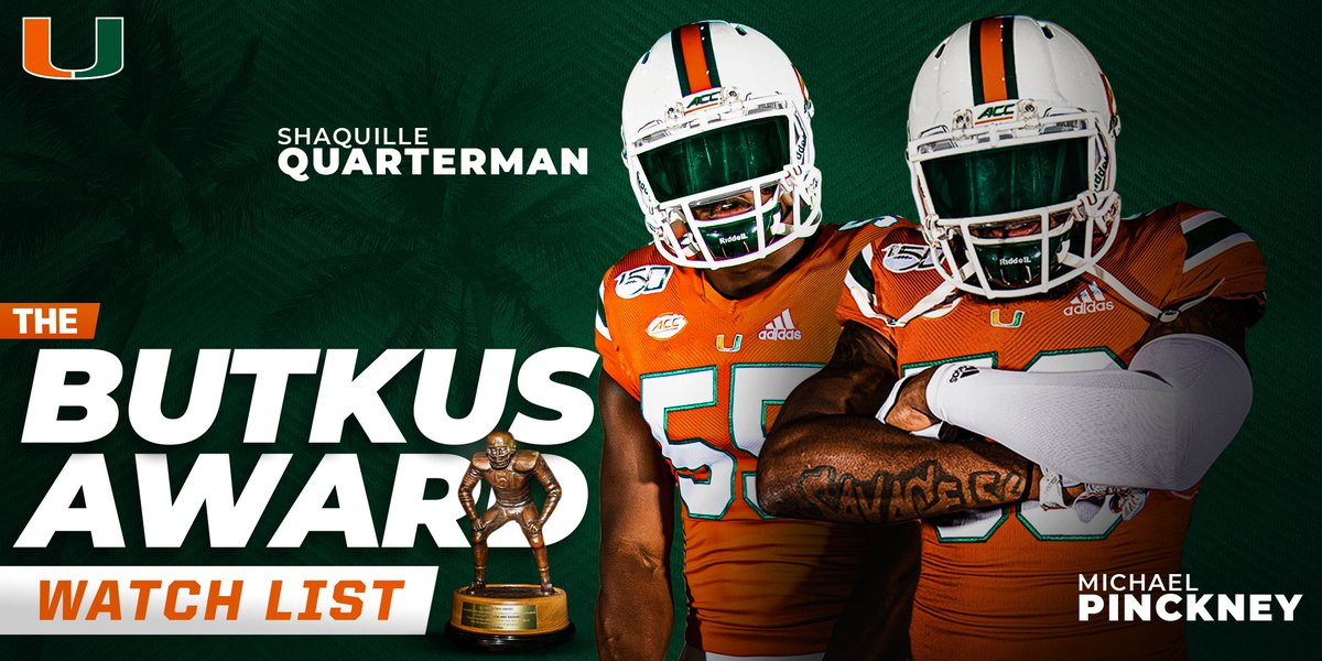 @CanesFootball's photo on Butkus Award