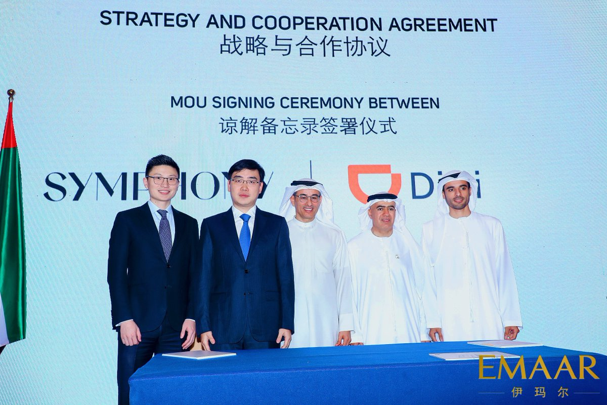 Mohammed and Rashid Alabbar, sign an MoU with @DIDIChuxing to promote sharing economy and internet consumer services in the #MiddleEast. #Beijing<br>http://pic.twitter.com/OIQUeBiiuR