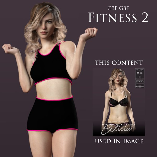 FREE Fitness 2 for Genesis 3 Female and Genesis 8 Female for