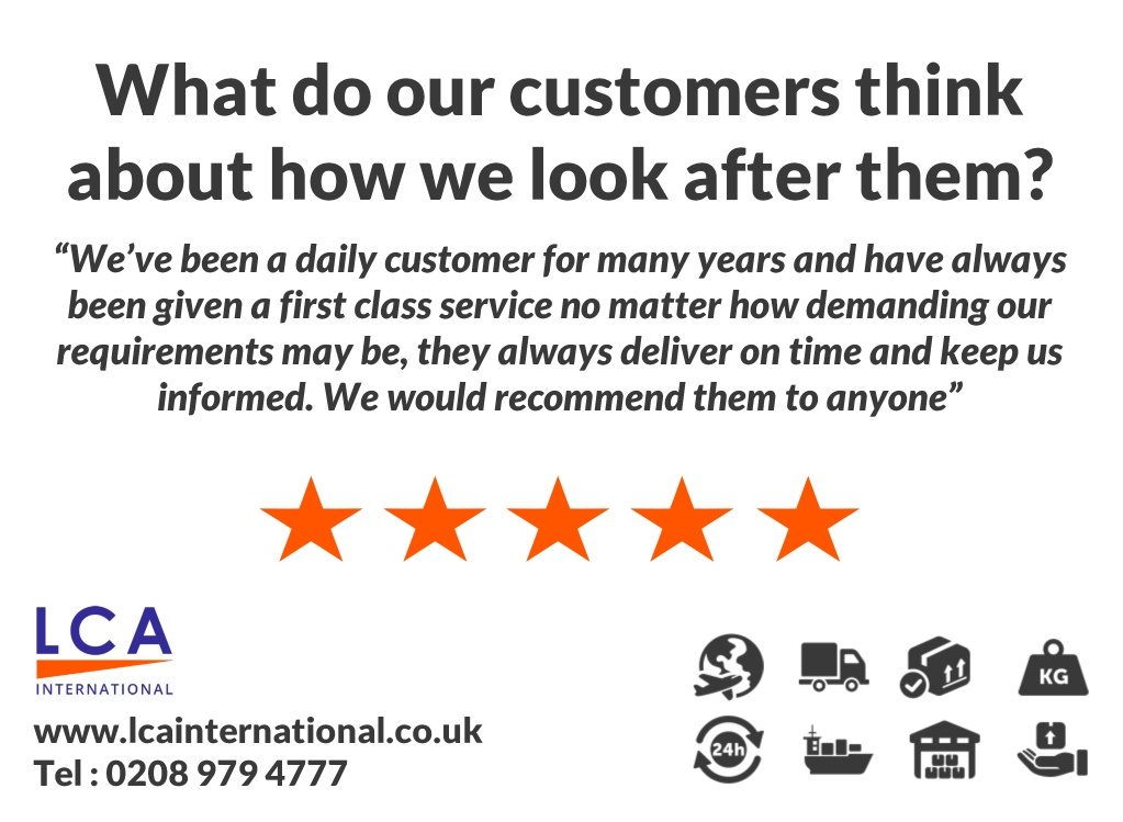 Customer #feedback is important to us.. it lets us know we're looking after our clients as they expect us to! http://www.lcainternational.co.uk or 0208 979 4777 #london #courier #couriers #parcel #delivery #alternative #londoncourier #londoner #courierservices #express #expresscourier