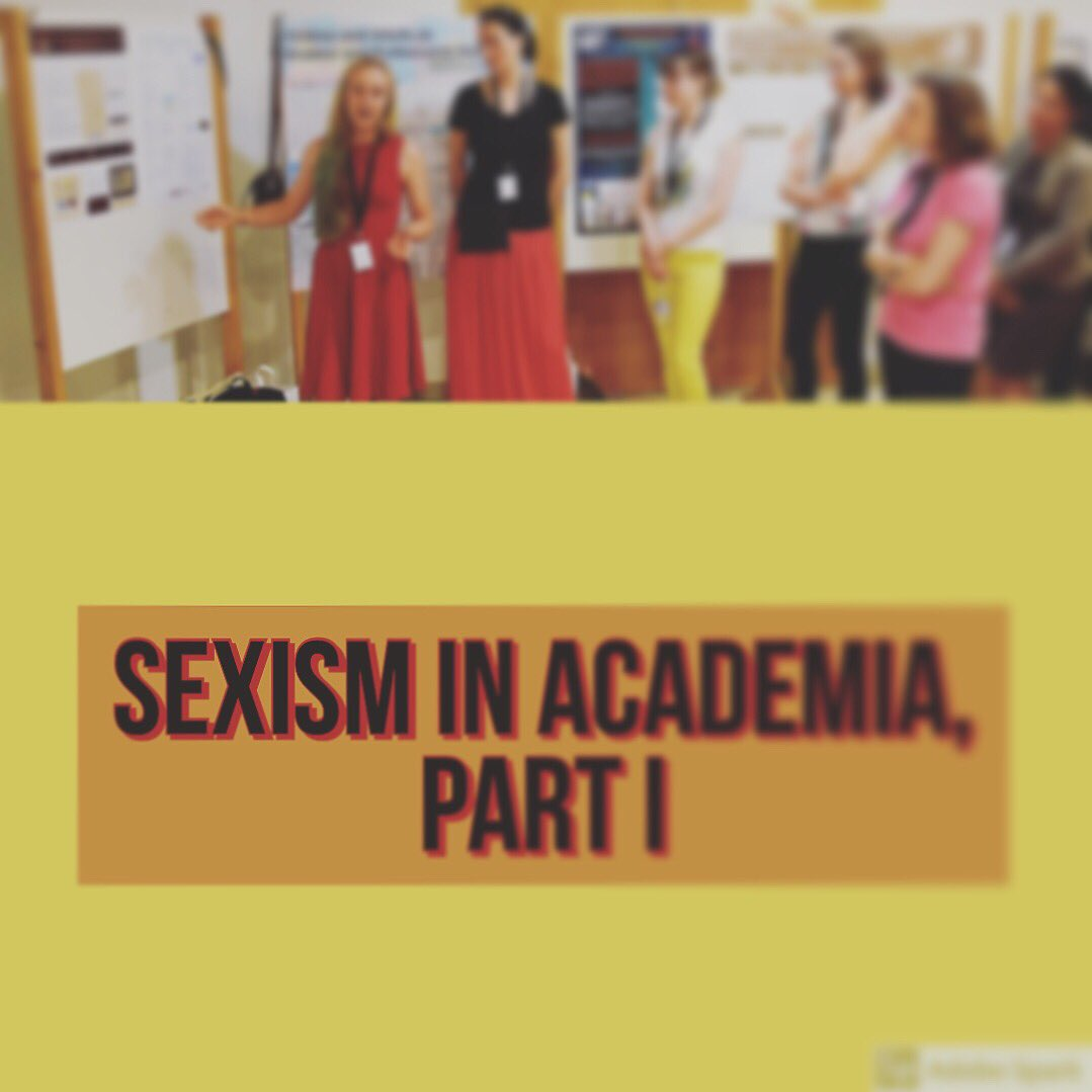 #newblogpost on #sexism in #Academia and Breaking the silence https://epigrammetry.hypotheses.org/306  #wiasn