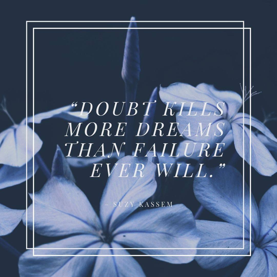 Doubt kills more dreams than failure ever will.– Suzy Kassem . . . . #WealthStartsHere #MoneyManagement #PlanningForRetirement #Retirement #FullertonFinancialPlanning #Money #Investments #Insurance #Financial #RetirementPlan #Income #Growth #Strategy #accumulation