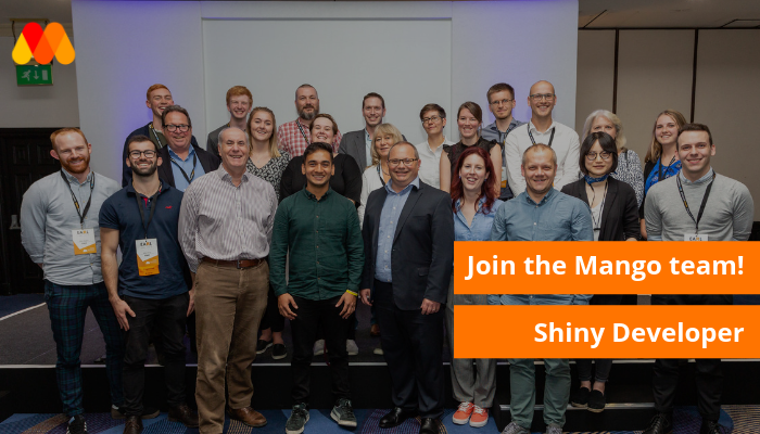 Do you love making stunning data visualisations? Enabling non-experts to access the power of analytics? We are looking for someone to put the #Shine on our analytics. Apply here: https://www.mango-solutions.com/jobs/shiny-developer … #rstats  #shiny #rbloggers