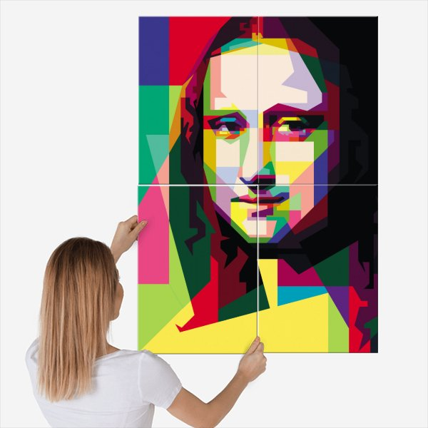 24% OFF L and XL size | Use code: LARGE | Ends: Tuesday prints on steel by https://displate.com/displate/765106?art=5c29b57730f44 …  #monalisa #wpap #popart #digitalart based on #leonardodavinci #painting #smile #mystery