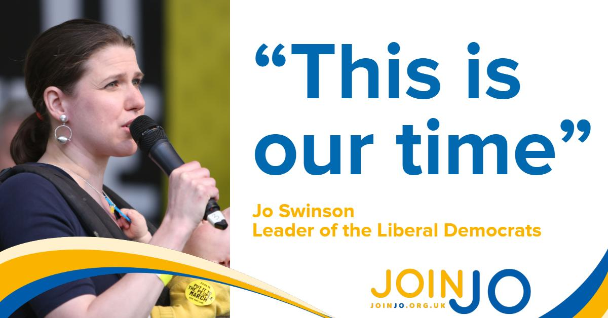 I love this party, and I'm excited and humbled to be chosen as our next leader. Huge thanks to my friend @EdwardJDavey for a contest that showed the country the very best of us. Read my first email to @LibDems members here: joinjo.org.uk/thankyou #JoinJo
