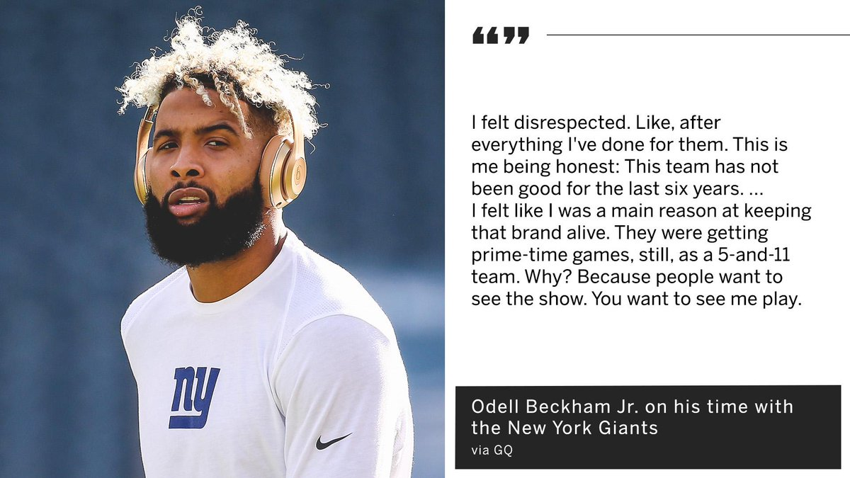 OBJ says the Giants were a bad team, but he kept them in the spotlight.