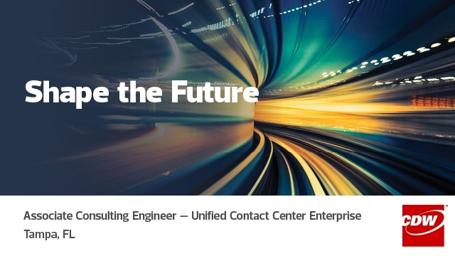 CDW is #hiring! Design and deploy Contact Center Enterprise #technologies as an Associate #Consulting #Engineer. Learn more about this opportunity in #Tampa, FL here: #cdwsocial https://dy.si/3LwVC