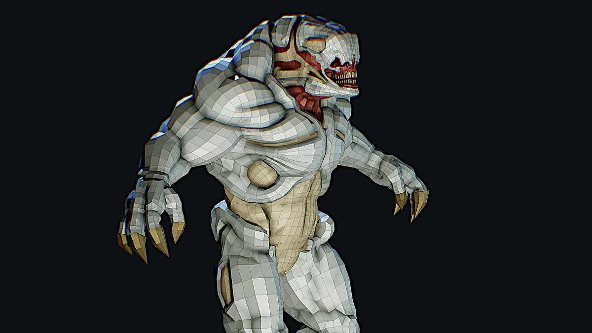 https://sketchfab com/3d-models/hellknight-doom3-fanart