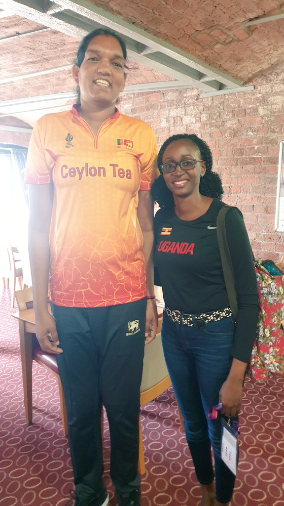 Meet 40 year old 6ft10 Tharjini Sivalingam from Sri Lanka🇱🇰 finished @NetballWorldCup with the most goals scored!348!! She was also the tallest player at the tournament!🙌 And also said this was her last World Cup!