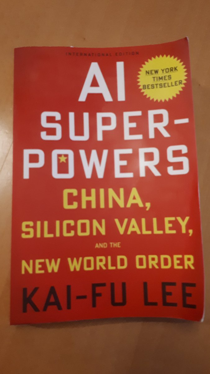 The best book about current state of AI and its future that you can read today. More of my opinion: http://bit.ly/2y0N983 By @kaifulee #AI #China