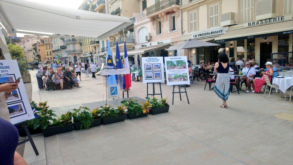 Inauguration de la rue Félix Faure à #Cannes après des mois de travaux #CotedAzurFrance #CotedAzurNow #FrenchRiviera #CannesAvance #CannesEnÉté @villecannes @CannesIsYours @VisitCotedazur @CannesPalais 🌴 ☀