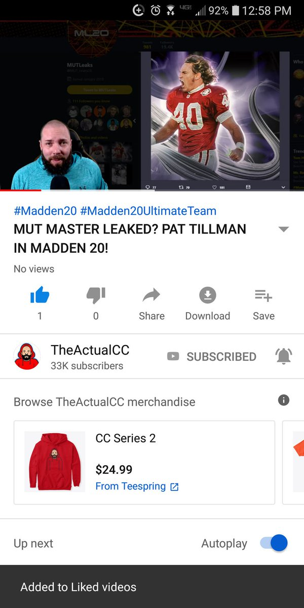 What a start to the day. Pat in MUT20 this gotta be too good to be true. @TheActualCC<br>http://pic.twitter.com/aMif2YOYSa
