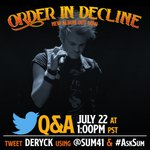 Image for the Tweet beginning: Join Deryck today at 1pm