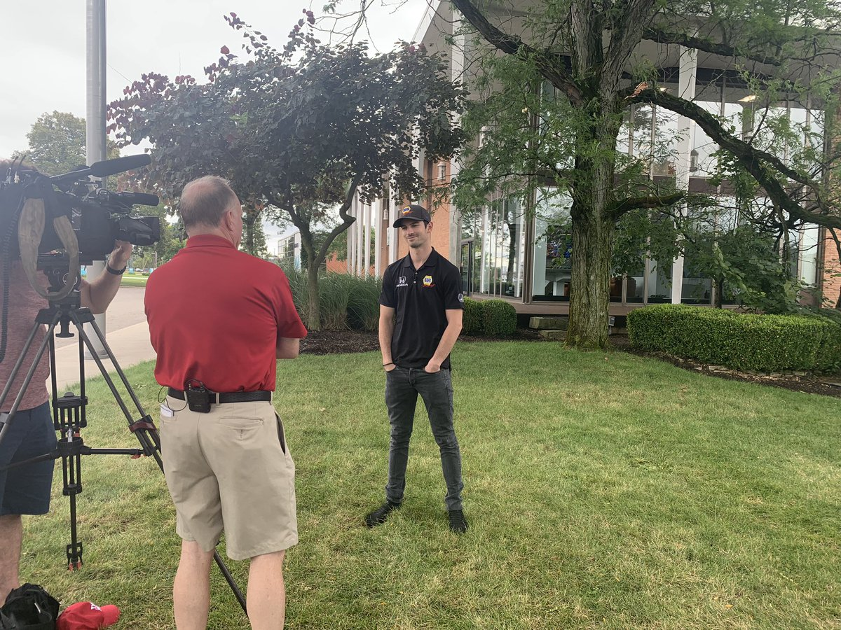 Another stop on the #Honda200 media tour - @wsyx6!