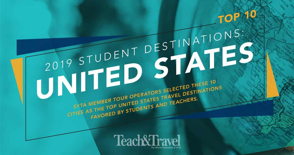 We're not surprised that SYTA's top student destinations include some of our most popular tours!   #syta #studenttours #studenttraveldestinations   https:// syta.org/top-10-student -destinations-2019-united-states/   … <br>http://pic.twitter.com/4chSOTMfs3