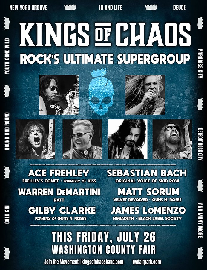 See you this Friday with @kingsofchaosusa !