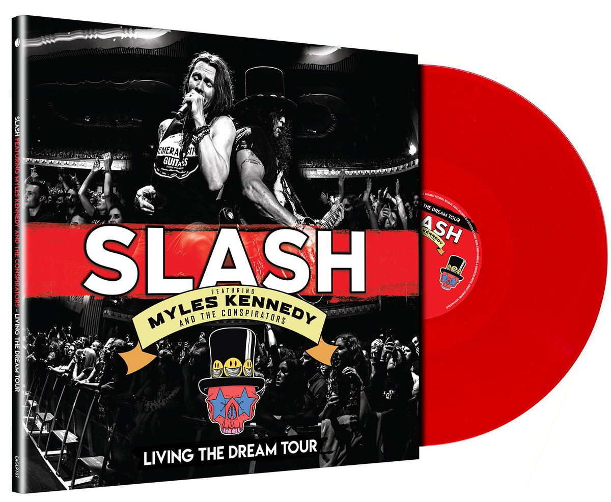 Slash ft. Myles Kennedy & The Conspirators - Living The Dream Tour is available in limited edition Red 3LP Vinyl. Available to order at http://www.slashonline.com #slashnews
