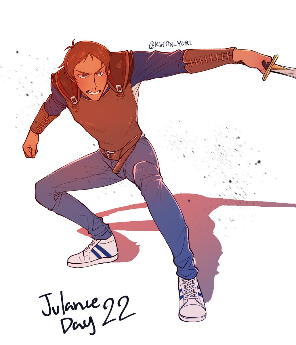 Day 22 : Camp half-blood #julance #voltron  Why is he changing so much? PS. I used costume reference from Percy Jackson and poseture from 3D model. <br>http://pic.twitter.com/fzjn4N3UUs