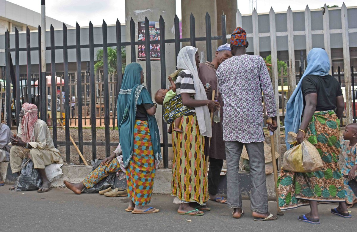 Image result for roadside beggars in Ibadan