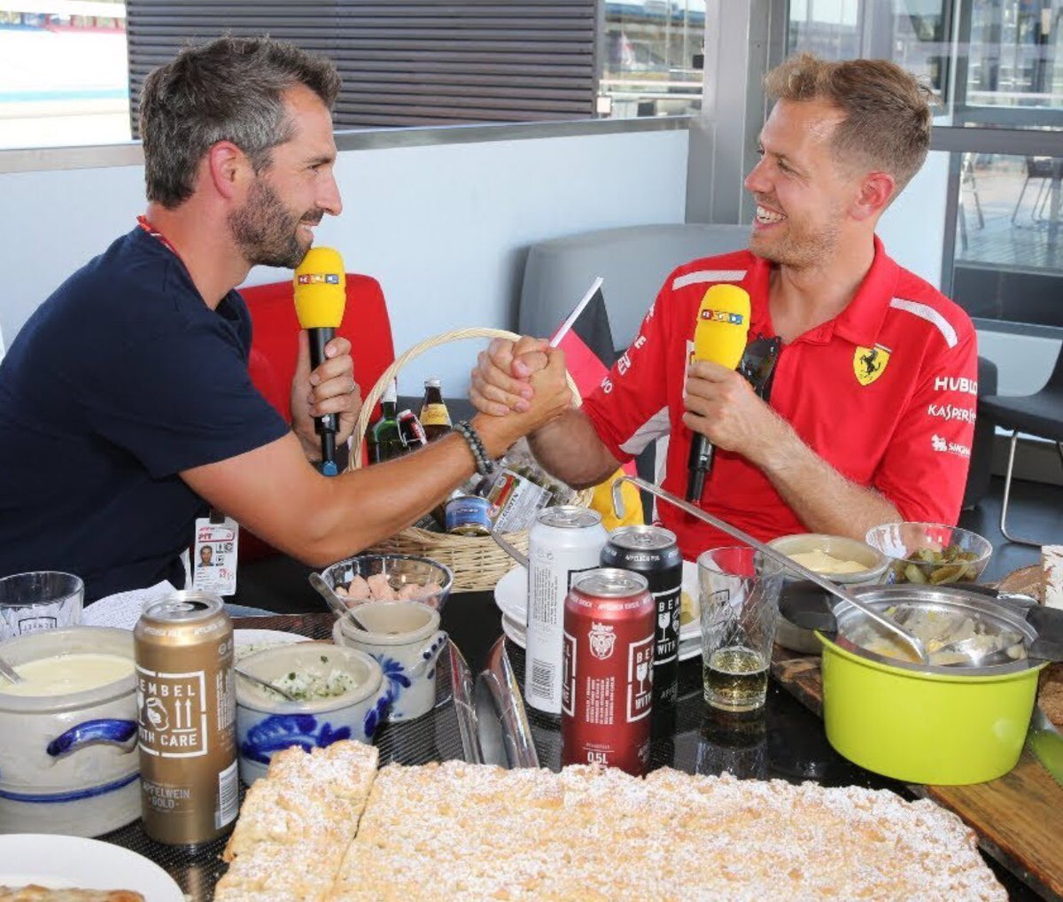 Home race is always so magic 😀🇩🇪⁣ .⁣ .⁣ #GermanyGP🇩🇪 #Seb5 #Vettel #SebastianVettel #ScuderiaFerrari #F1