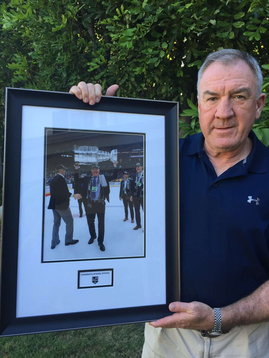 A gift from the LA Kings to our great Hall of Famer and @StLouisBlues exec Dave Taylor.  #stitch <br>http://pic.twitter.com/zbukGisEz3
