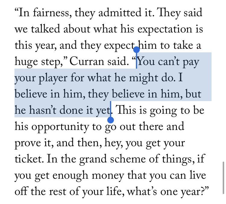 This quote from Kevin Kurz's latest article is by Kevin Labanc's agent and is exactly what @IanBlogsHockey and I were talking about on the last #TTGPod with regards to RFA extensions <br>http://pic.twitter.com/9QRoG0WUcY