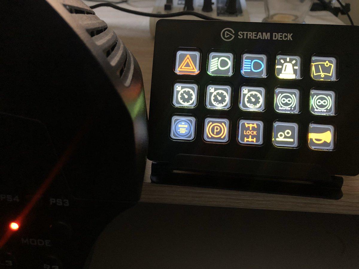 Sim Dashboard Button Box