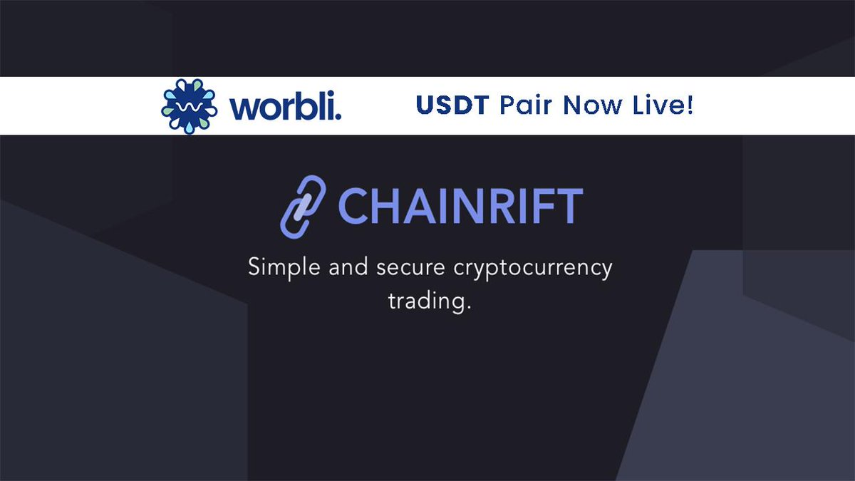 Worbli now with a #USDT pairing on @ChainRift.  Sign in and trade here https://www.chainrift.com/trading?coinpair=WBI/USDT&…  #WORBLI #EOSIO