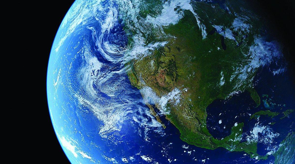 Планета земля со спутника картинка