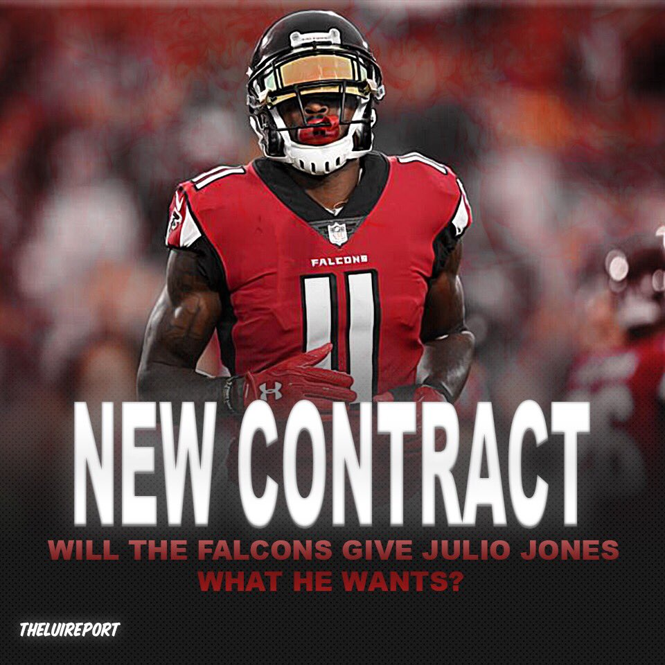 DAILYQ: Do you think the Falcons should give Julio Jones a better contract? And will the Falcons will give him that contract?   #nfl #nfloffseason #nflpreseason #atlantafalcons #falcons #juliojones #football #sports #news #f4f