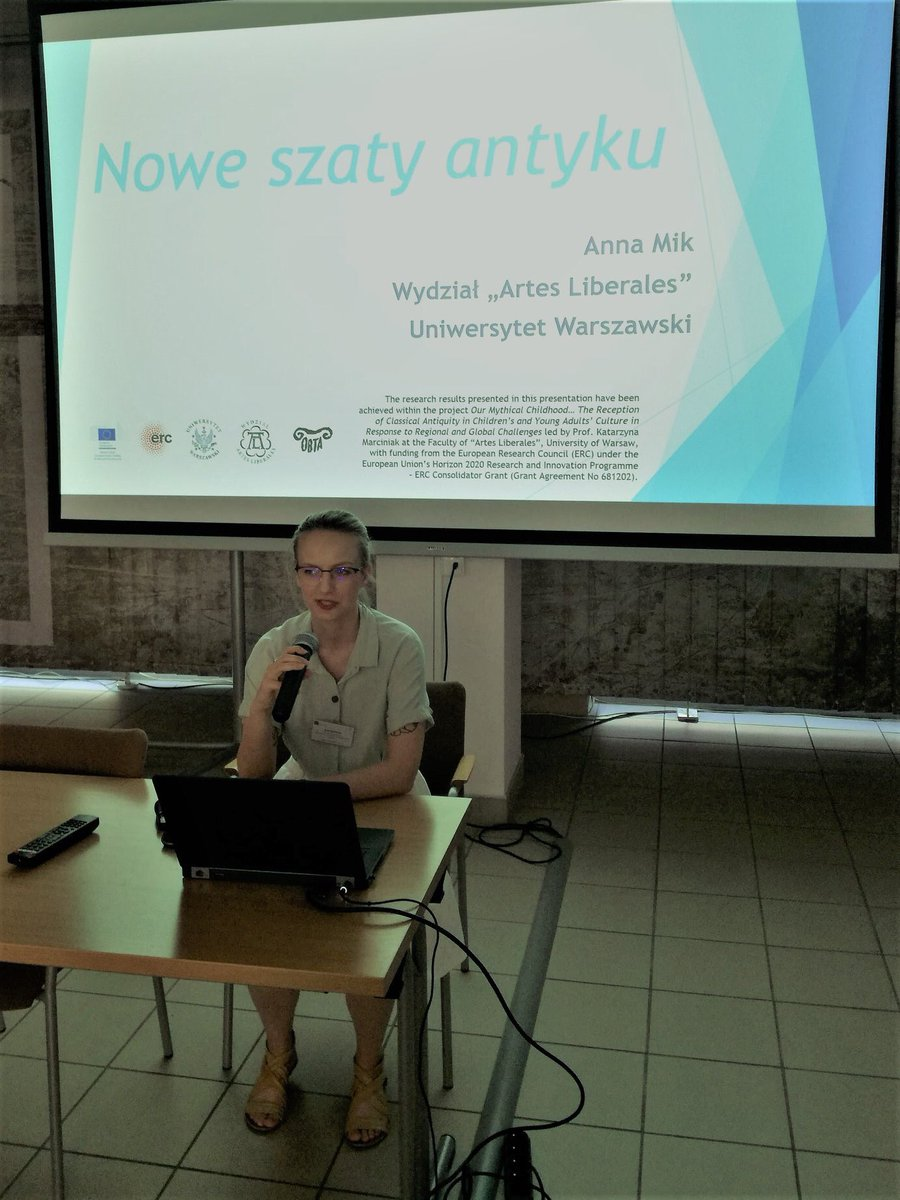 "June 11, 2019 - Anna Mik took a part in the conference ""Young Adult in a Library - Challenges, Chances, Inspirations"", organized by the Association of Polish Librarians in Warsaw. She presented the paper ""Antiquity's New Groove"" [""Nowe Szaty Antyku""] @ERC_Research #EUfunded"